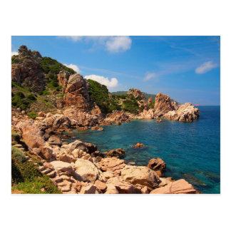 Carte Postale Roches rouges à la côte de la Sardaigne