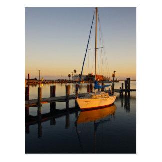 Carte Postale Rockport, port du Texas au coucher du soleil