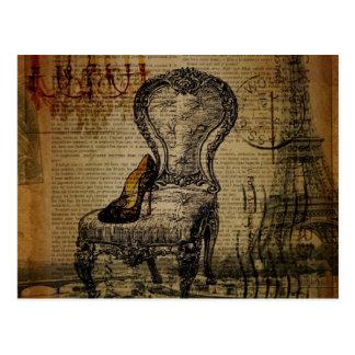Carte Postale rococos français de régence de Tour Eiffel de