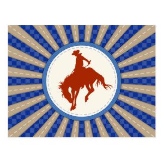 Carte Postale Rodéo de cowboy