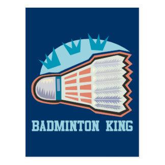 Carte Postale Roi de badminton