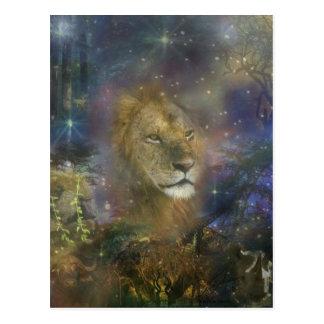 Carte Postale Roi de lion des bêtes de jungle