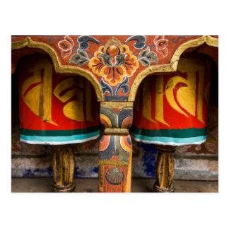 Carte Postale Rôle de prière bouddhiste, Bhutan