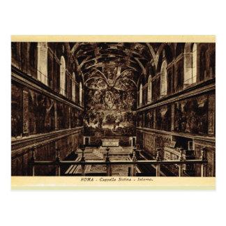Carte Postale Roma à l'intérieur de la chapelle de Sistine