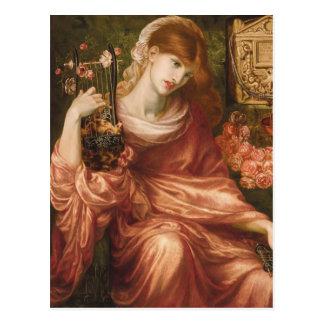 Carte postale romaine de joueur d'harpe de