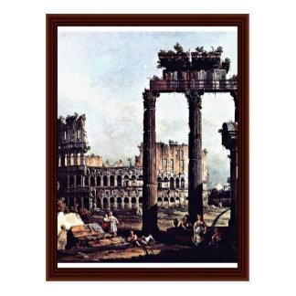 Carte Postale Romano Colosseum de Capriccio par Bernardo