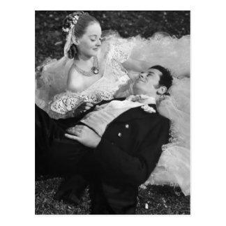 Carte postale romantique de Français de couples