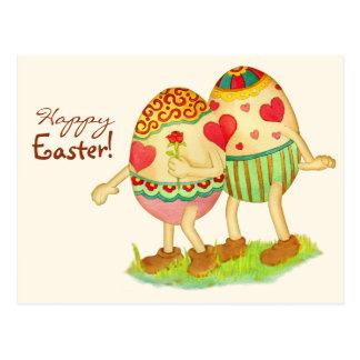Carte postale romantique de Pâques