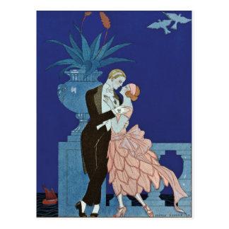 """Carte Postale ~ romantique vintage """"Oui """" de couples"""