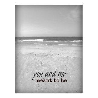 Carte Postale Romantique vous et moi scène de plage