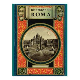 Carte Postale Rome, cadre décoré