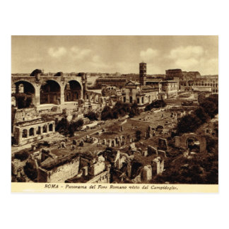 Carte Postale Rome, forum, panorama