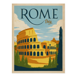 Carte Postale Rome, Italie Colosseum
