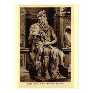 Carte Postale Rome, Moïse, par Michaël Angelo