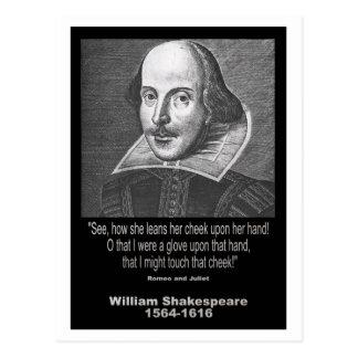Carte Postale ~ Romeo et Juliet de citation de Shakespeare