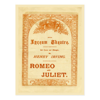 Carte Postale Romeo et Juliet de Henry Irving