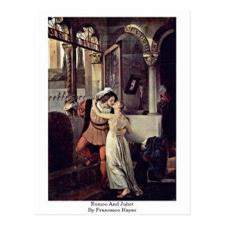 Carte Postale Romeo et Juliet par Francesco Hayez