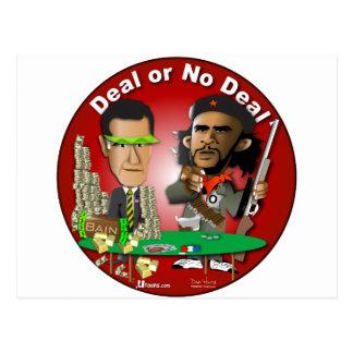 Carte Postale Romney et Che Obama
