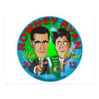 Carte Postale Romney Ryan Etats-Unis