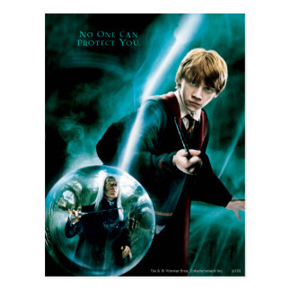 Carte Postale Ron Weasley et Lucius Malfoy