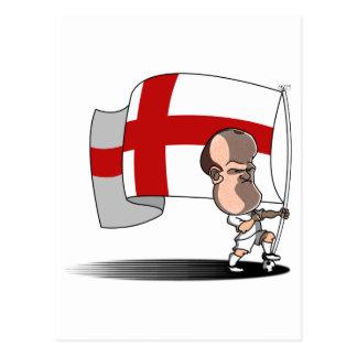 Carte Postale Rooney avec le drapeau de l'ANGLETERRE