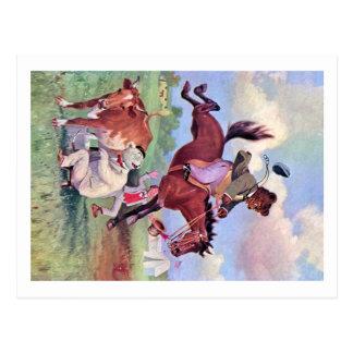 Carte Postale Roosevelt soutient monter des chevaux de rodéo