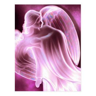 Carte postale rose d'ange