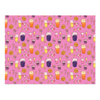 Carte postale rose de cocktails