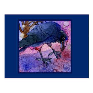 Carte postale rose de corneille de ciel