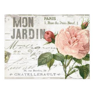 carte postale rose de Français vintage moderne