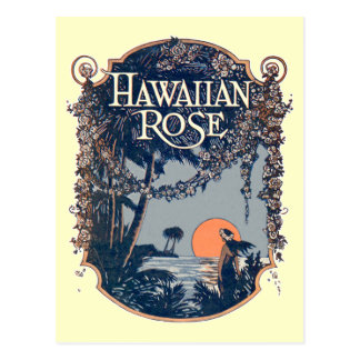 Carte postale rose de Hawaïen