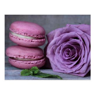 Carte postale rose de pâtisserie française de rose