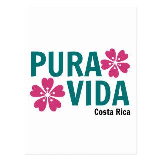Carte Postale Rose de Pura Vida et conception floraux de vert
