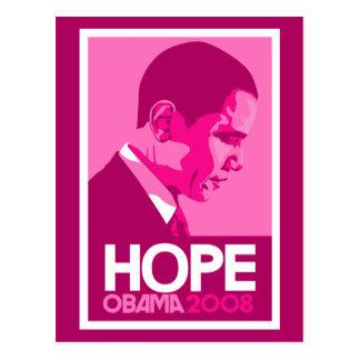 Carte postale rose d'espoir d'Obama