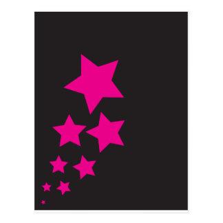 Carte postale rose d'étoile