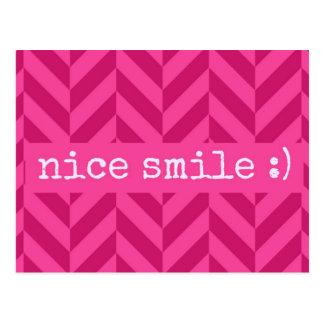 """Carte postale rose douce d'amour """"Nice de sourire"""""""