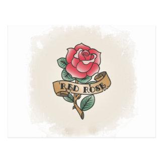 Carte Postale Rosée Vintage Tatuaje idées de cadeau