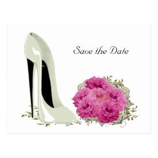 Carte Postale Roses de bouquet et cadeaux de stylet de mariage