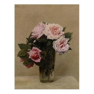 Carte Postale Roses de Henri Fantin-Latour-