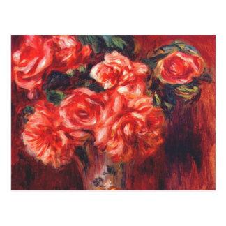 Carte Postale Roses de mousse par Renoir