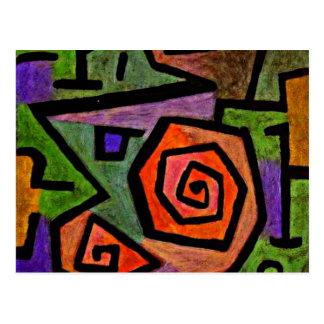 Carte Postale Roses héroïques, art de Klee