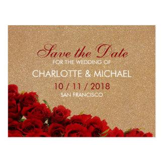 Carte Postale Roses rouges de style élégant
