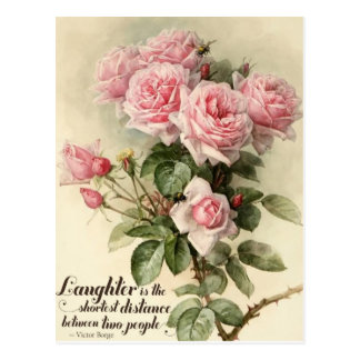 Carte Postale Roses victoriens roses chics minables