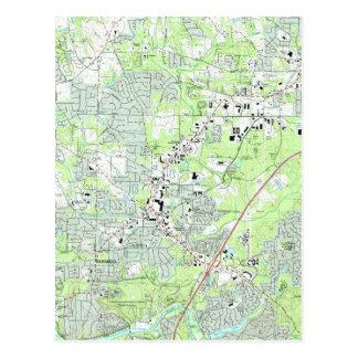 Carte Postale Roswell la Géorgie Map (1992)