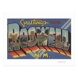 Carte Postale Roswell, Nouveau Mexique - grandes scènes de