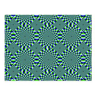 Carte Postale Rotation de rotation de roues d'expansion