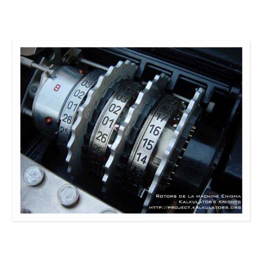 Carte postale Rotor Enigma