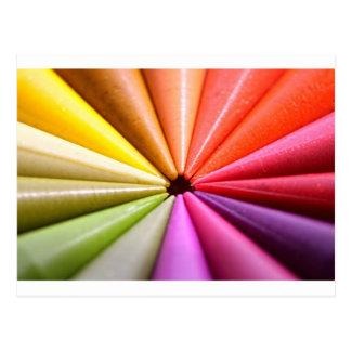 Carte Postale Roue de couleur