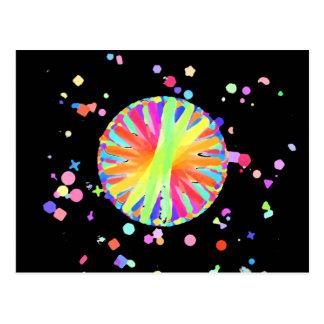 Carte Postale Roue de couleur folle