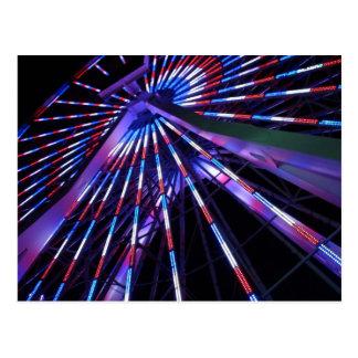 Carte Postale Roue de Ferris de pilier de Santa Monica la nuit